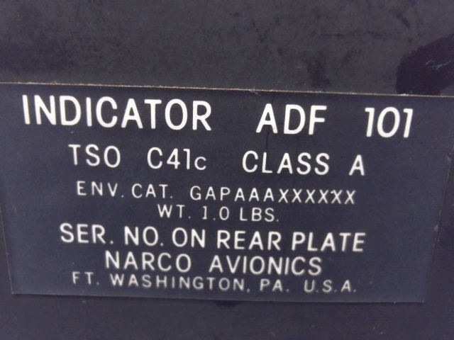 Narco ADF101 ADF 101 Indicator